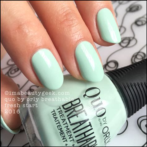 Orly Nail by Orly Breathable Nail By Quo Swatches And Review