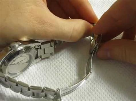 How to Micro Adjust Watch Bracelet   YouTube