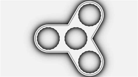 3d Printable Fidget Toy Triangle Bearing Spinner 3d Model 3d Printable Max Obj Fbx Ma Mb Stl 3d Printed Fidget Spinner Template