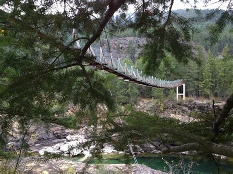kootenai falls swinging bridge kootenai falls swinging bridge picture of kootenai falls