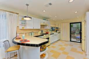 retro kitchen flooring ideas midcentury modern kitchen photos hgtv