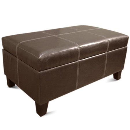 storage ottoman walmart rectangle storage ottoman brown walmart