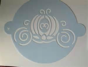 cinderella stencil cinderella carriage baking stencil