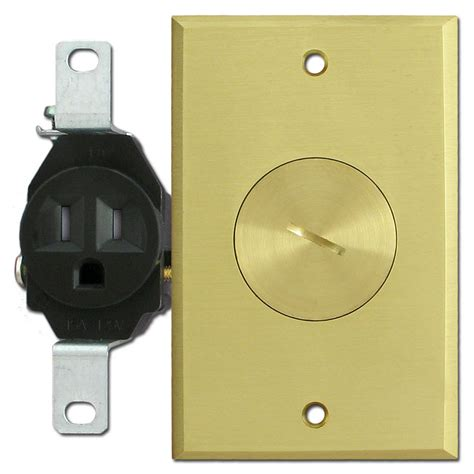 floor mounted ter resistant single outlets with brass