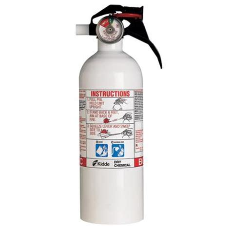 Kitchen Extinguisher Canada by Kidde Home Series White Extinguisher Home Depot