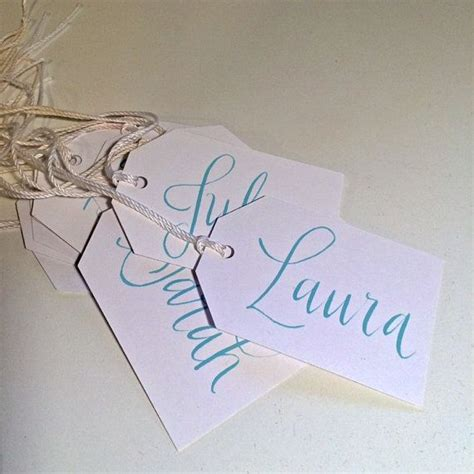 wedding place cards handwritten or printed custom calligraphy gift tags for name or place cards handwritten lettered by