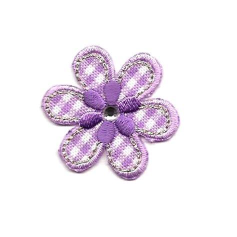 lilla fiore disegni termoadesivi fiore lilla con strass