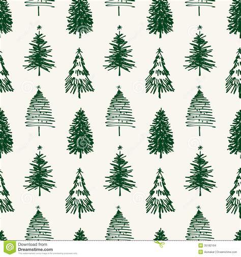 pattern of christmas tree pattern of christmas trees stock vector illustration of