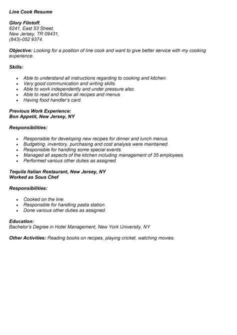 resume line cook job resume carinsurancepaw top