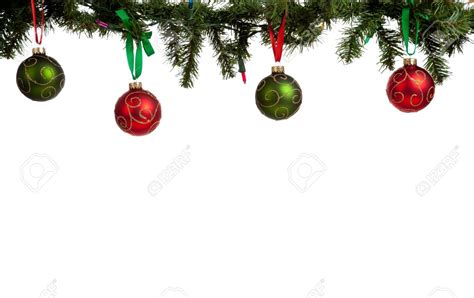 red christmas ornament borders happy holidays