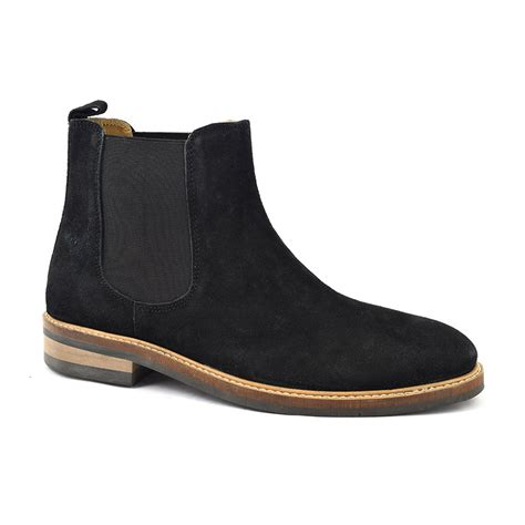 shop black suede chelsea boot mens boots gucinari