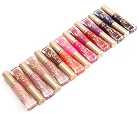 Faced Melted Matte Lip Lipstick sneak peek faced melted matte liquid lipsticks photos
