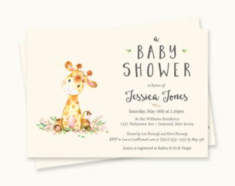 giraffe baby shower invitations sorepointrecords