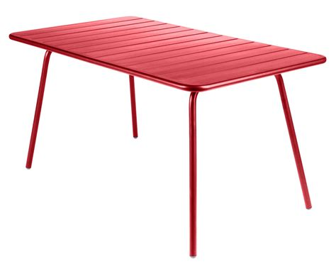 Rectangular Table L Luxembourg Table Rectangular 6 Persons L 143 Cm Coquelicot By Fermob