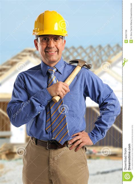 Construction Foreman by Construction Foreman Smiling Royalty Free Stock Image Image 36367706