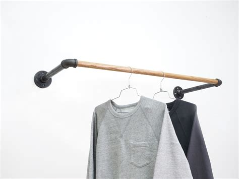 Wall Mount Clothes Rack by Black Steel U Rack Wall Mount Clothing Rack