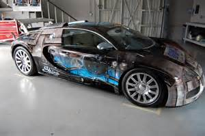 Bugatti Wrap 1 7 Million Bugatti Veyron Gets Custom Wrap Via Epson