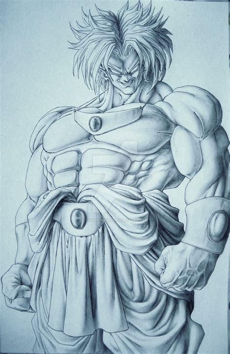 broly tattoo broly by ticodrawing on deviantart