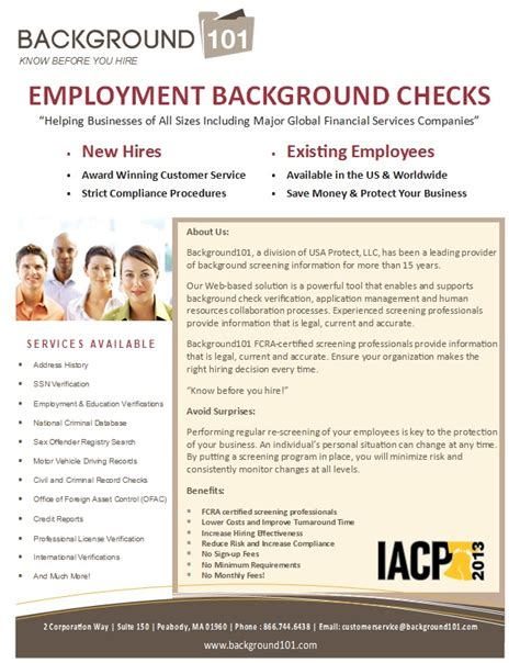Firstpoint Background Check Background101 Introduces U S And Global Background Checks For Businesses Of All Sizes