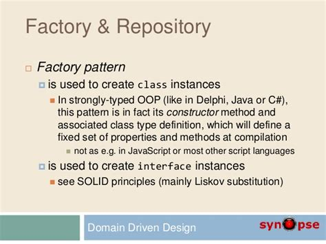 repository pattern factory d2 domain driven design