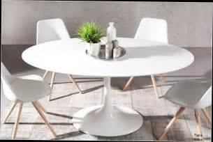 table basse blanche ronde pas cher table ronde tulipe 120