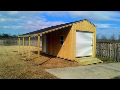 How To Build A 10x20 Shed by 10x20 Shed With Lean To Shed Plans Stout Sheds Llc