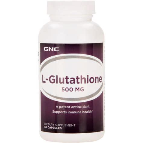 Gluta Suplemen gnc l glutathione 500mg dietary supplement 60 capsules clicks