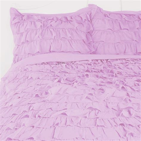 waterfall bedding purple ruffle bedding