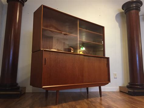 Teak Dining Room Hutch Sold Modern Teak Sideboard Hutch Modern To