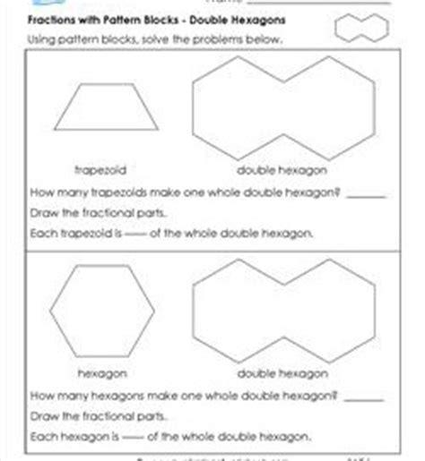 fractions pattern blocks worksheet pattern block fraction worksheets math worksheets