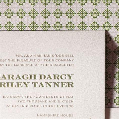 letterpress wedding invitations boston charmed boston figura