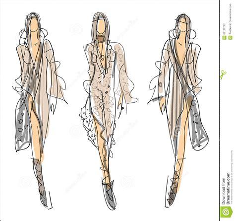 Layout Designer Free skizzen mode frauen vektor abbildung bild 63127742