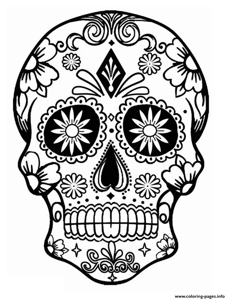 day of the dead calavera coloring page simple sugar skull calavera coloring pages printable