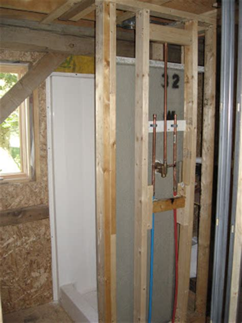 Plumbing For Shower Stall by Bare Hill Barn Plumbing Nearly Complete Anyway