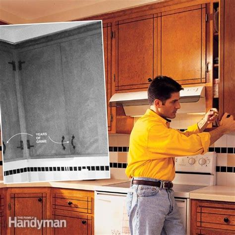 cleaning old kitchen cabinets how to refresh kitchen cabinets the family handyman