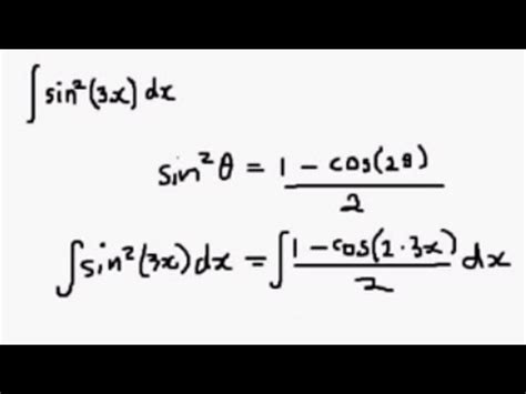 sin city 2 integral integral of sin 2 x using the half angle formula youtube