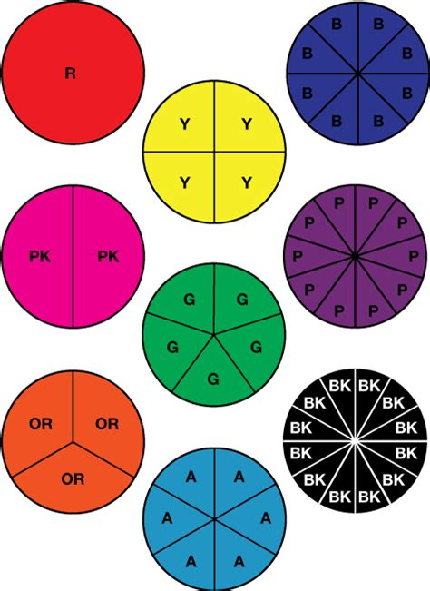 Fraction Pieces Printable