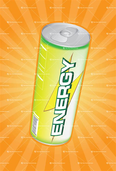 energy drink yellow energy drink vector illustration of a yellow green