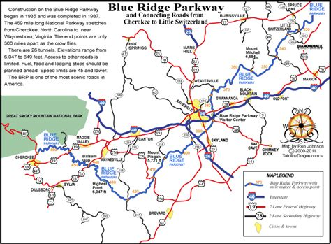blue ridge parkway blue ridge parkway map with mile markers this map shows