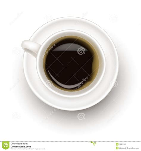 top of coffee cup top view of black coffee cup royalty free stock images