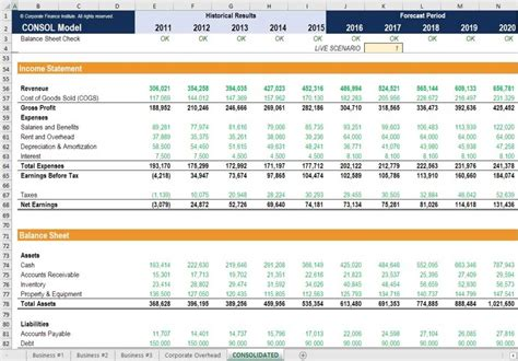 Financial Modelling Templates by Financial Model Formatting Corporate Finance Institute