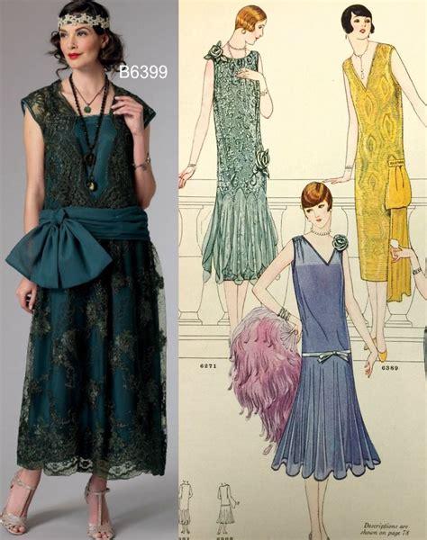 pattern in dress sew the look butterick b6399 1920s dress pattern