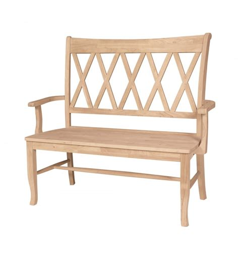 armed bench furniture 42 inch xx back arm bench simply woods furniture