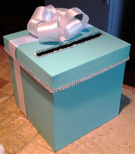 Gift Card Boxes For Parties - card box with personalization for a wedding baby shower bridal shower or birthday