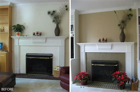 amusing before and after white mantel painted fireplace and grey wall painted also sweet decors