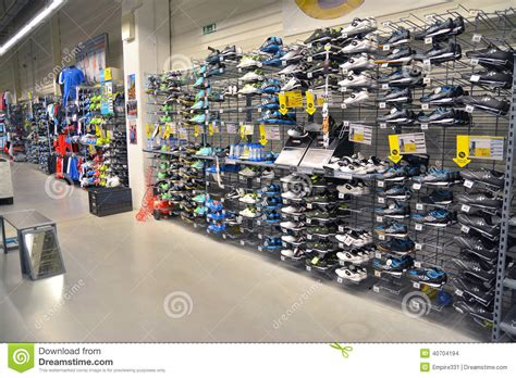 sport shoes store sport shoes store editorial stock image image of soccer