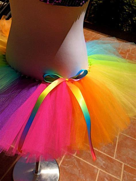 colorful tutu rainbow tutu colorful tutu color run tutu birthday tutu