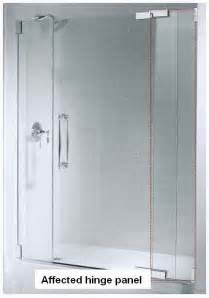 kohler co cpsc announce recall of shower doors due to