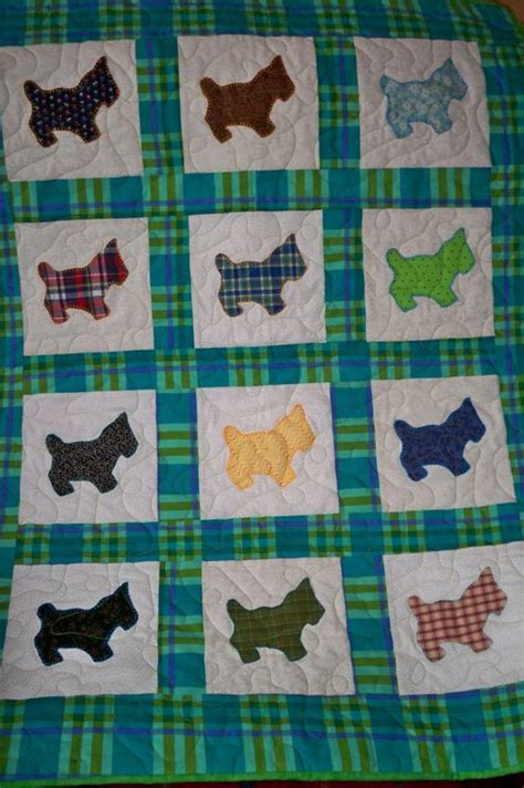 baby quilt playful scottie dogs vintage fabrics baby