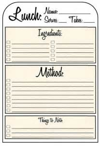 Recipe Sheet Template by Recipe Binder Templates Images